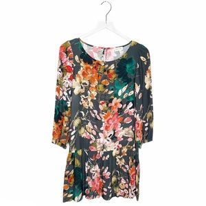 Anthropologie Meadow Rue Floral Peplum Tunic